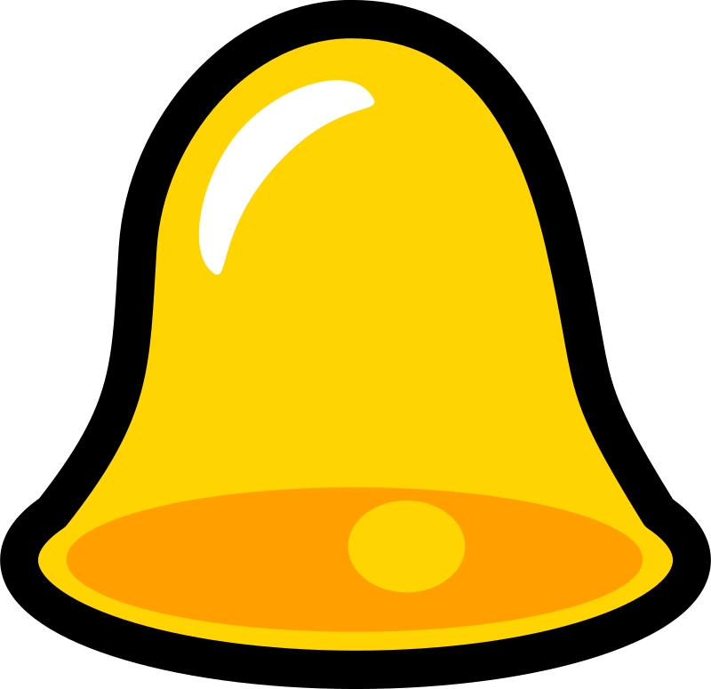 Yellow Bell Icon that looks cool with lots of title words to increase the titles space in an unrealistic test! by chovynz - A bell icon. Mi