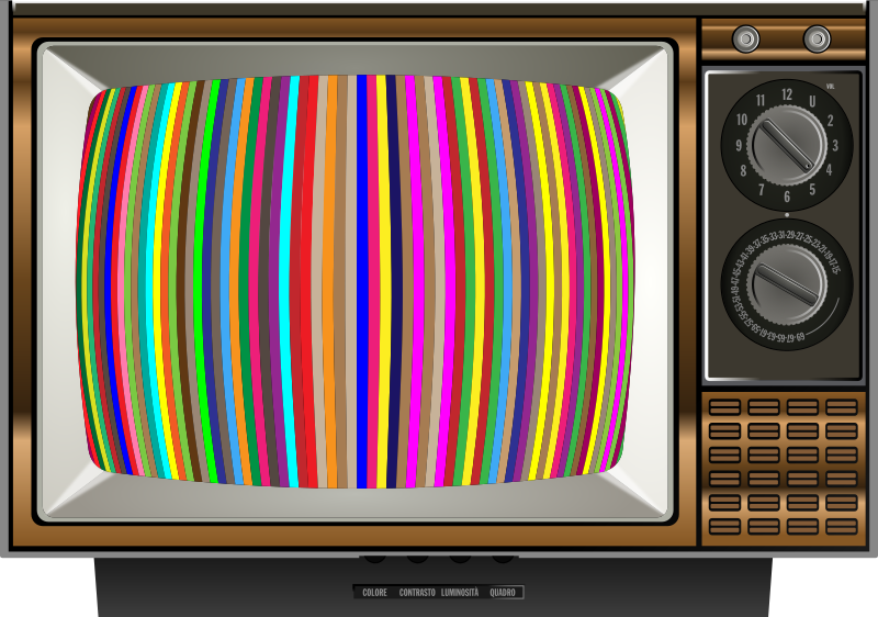 Clipart - Striped Test Pattern Television