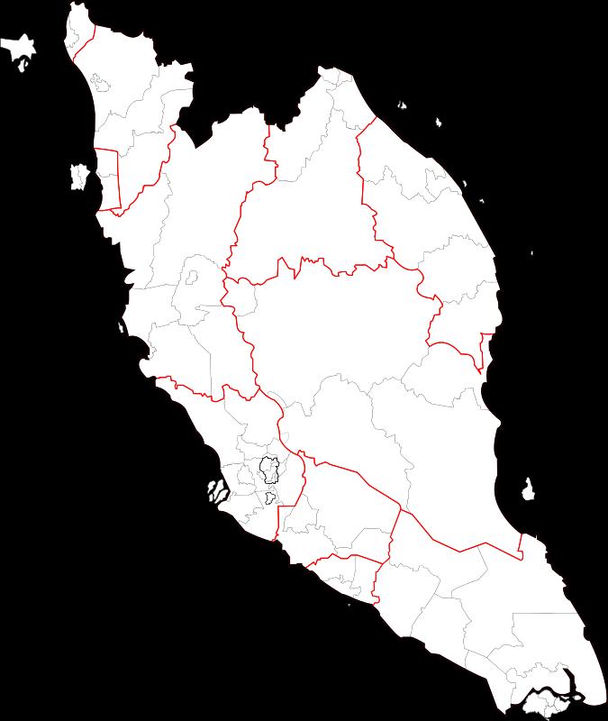 Peninsular Malaysia: Blank Map Of Peninsular Malaysia (fixed And Updated