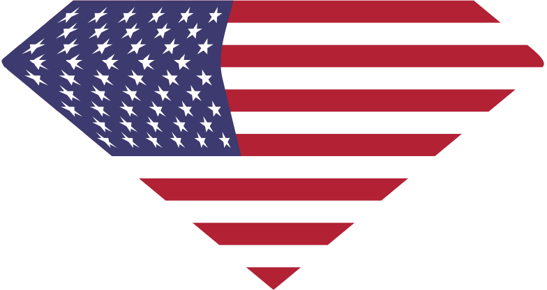 Clipart - American Diamond Flag American
