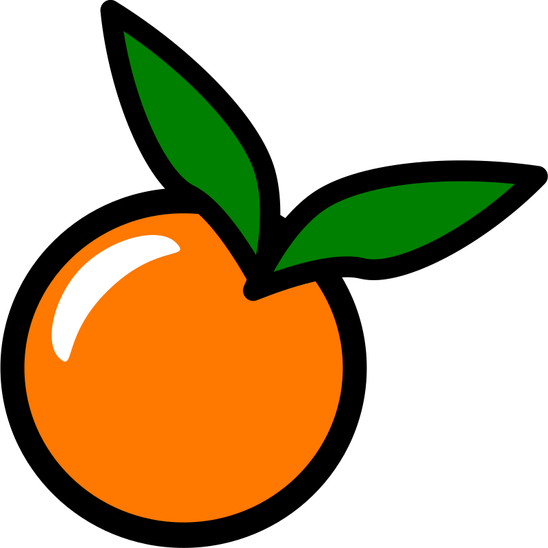 Orange Icon by chovynz - An orange icon. Minimalist. Inspired by http://openclipart.org/media/files/pitr/10285 I've kept these within 128 size. Part 5/6 of a requested set.