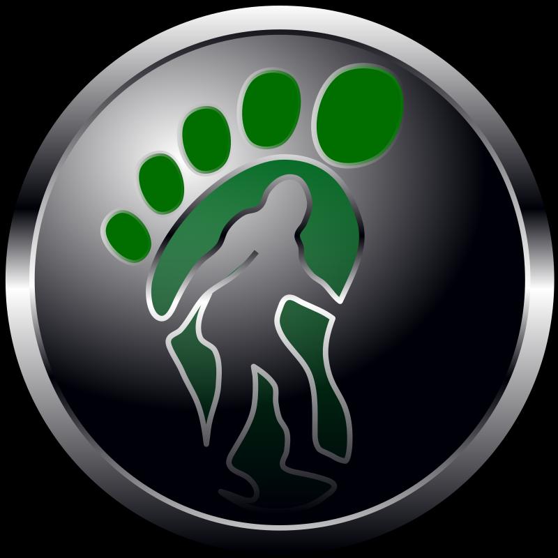 Clipart - Bigfoot Button