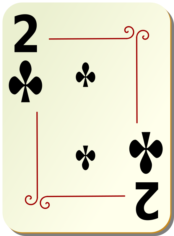 Ornamental deck: 2 of clubs by nicubunu