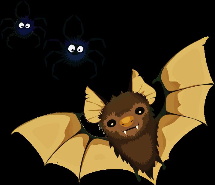 halloween clipart bats