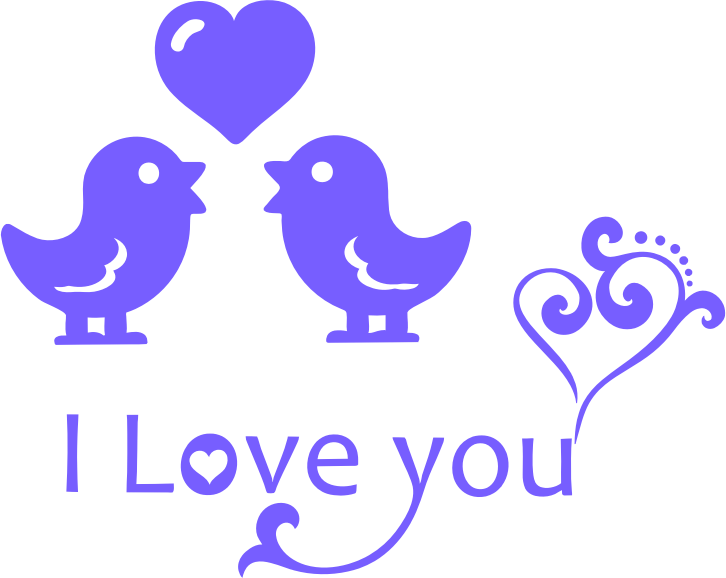 Clipart I Love You Typography