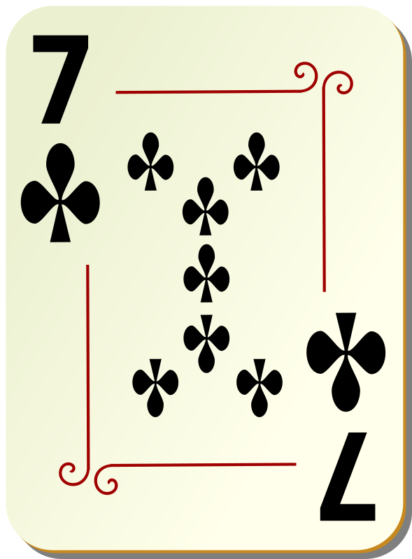 "Ornamental deck: 7 of clubs by nicubunu - playing card from the ""Ornamental"" set"