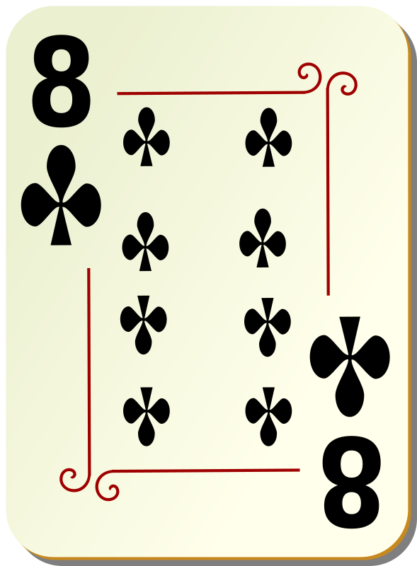 Ornamental deck: 8 of clubs by nicubunu