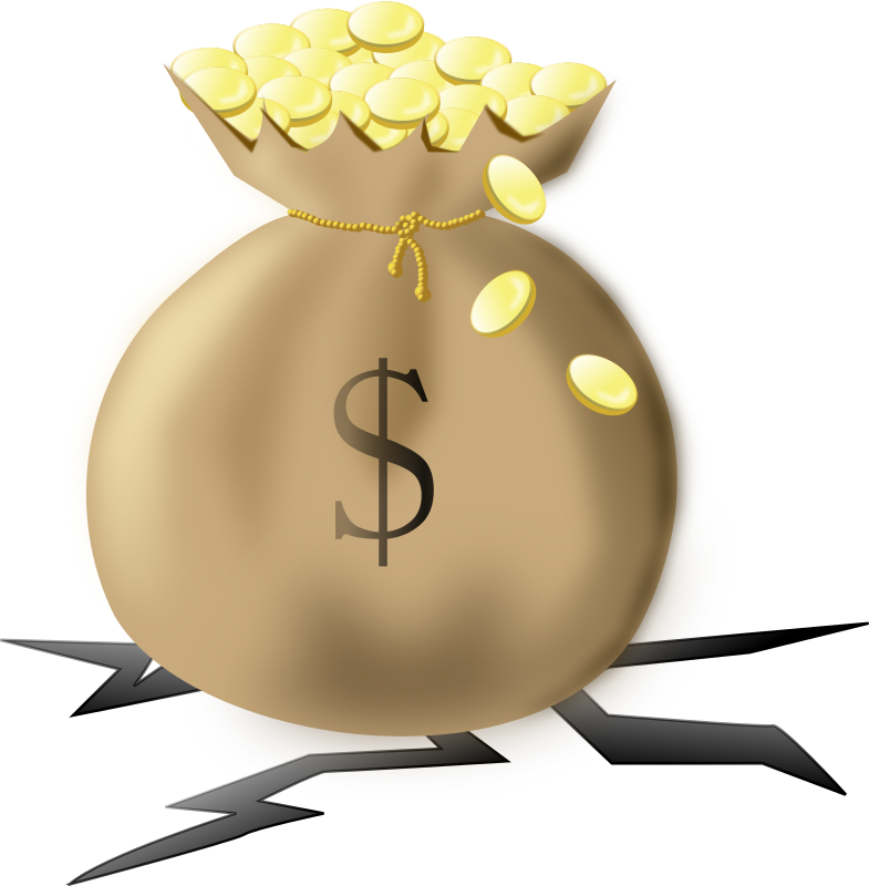 clipart crashing money bag clip art in black and white bag clipart for coloring