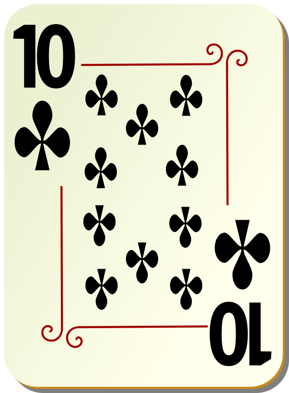 "Ornamental deck: 10 of clubs by nicubunu - playing card from the ""Ornamental"" set"