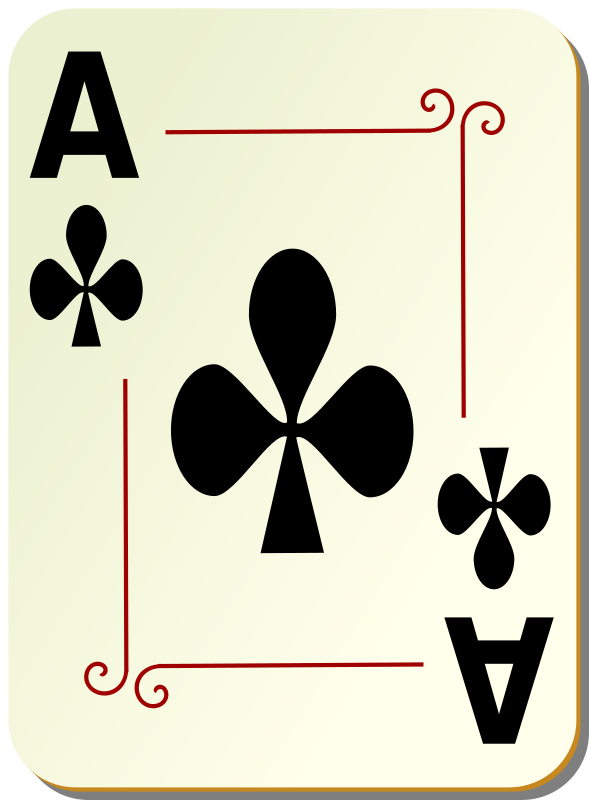 "Ornamental deck: Ace of clubs by nicubunu - playing card from the ""Ornamental"" set"
