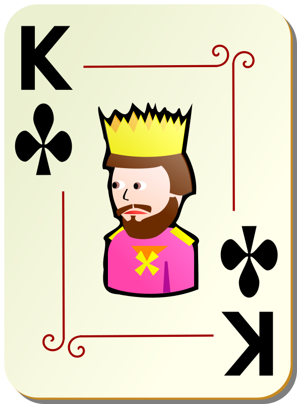 "Ornamental deck: King of clubs by nicubunu - playing card from the ""Ornamental"" set"