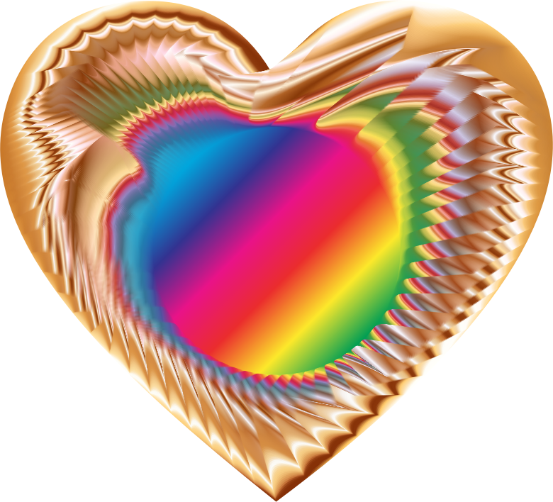 Clipart - Colorful Refraction Heart 10