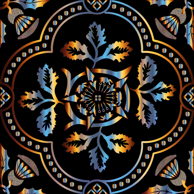 Clipart - Decorative Floral Design Enhanced 7
