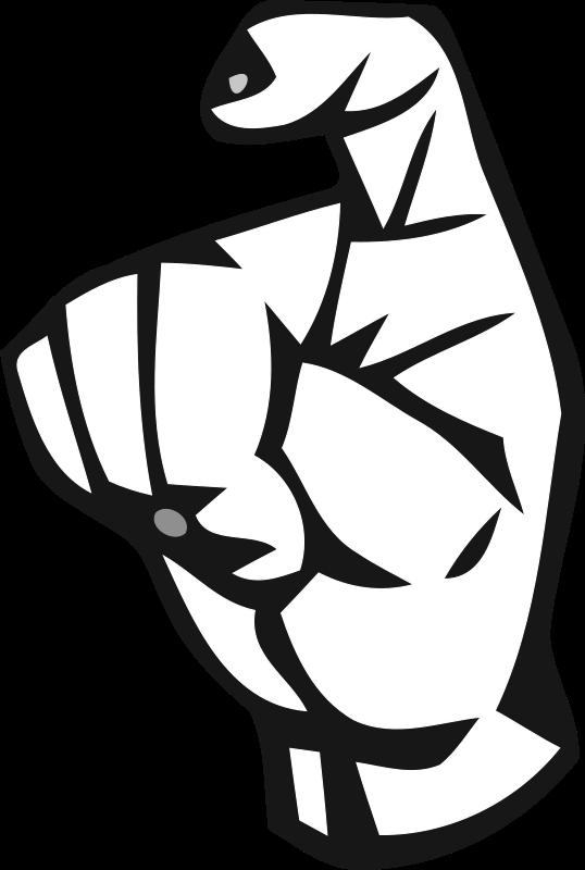 Clipart - Deaf Alphabet X
