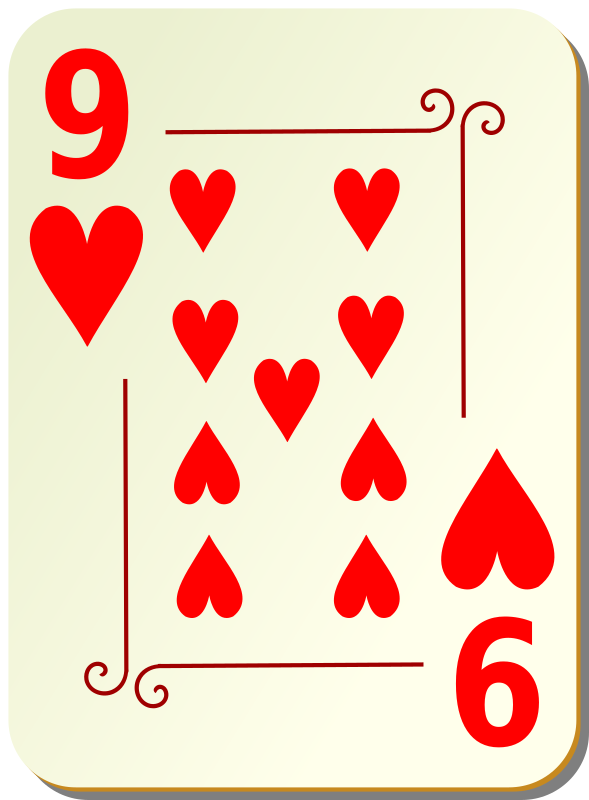 clipart ornamental deck 9 of hearts deck of cards clipart black and white deck of playing cards clipart