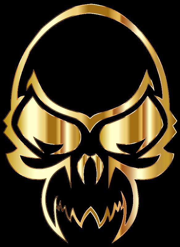 Clipart - Golden Skull