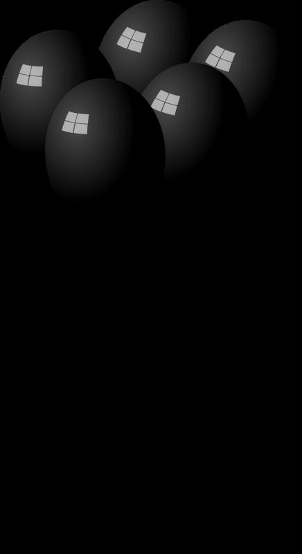 Clipart - Black Balloons
