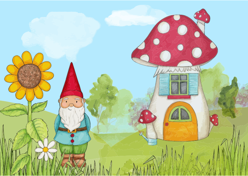 Clipart peaceful gnome landscape for My home pictures for kids