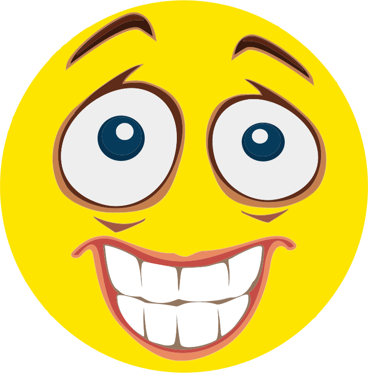 Clipart - Nervous Smiley