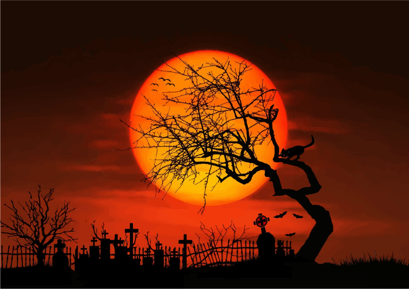 halloween scene clipart - photo #32