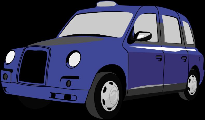 Clipart - Classic Blue Car