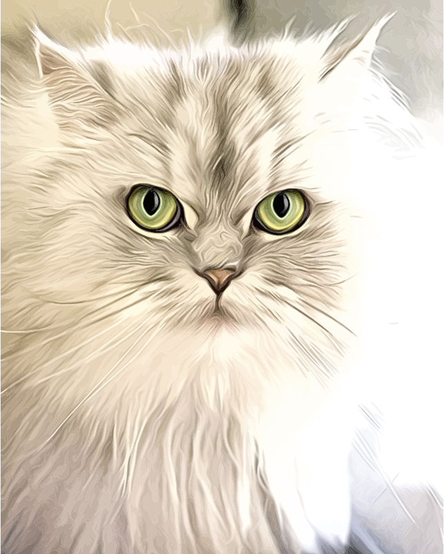 Clipart - Cat Portrait Painting