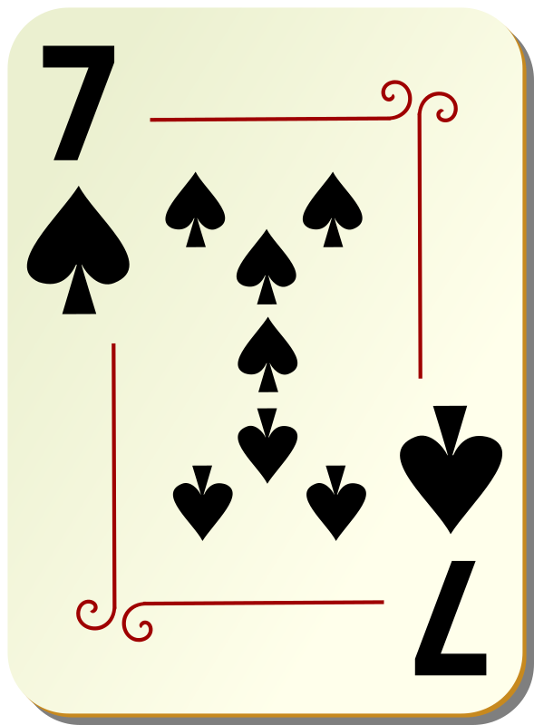 "Ornamental deck: 7 of spades by nicubunu - playing card from the ""Ornamental"" set"