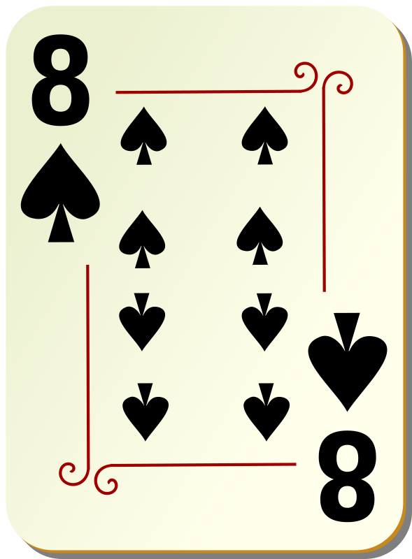 "Ornamental deck: 8 of spades by nicubunu - playing card from the ""Ornamental"" set"