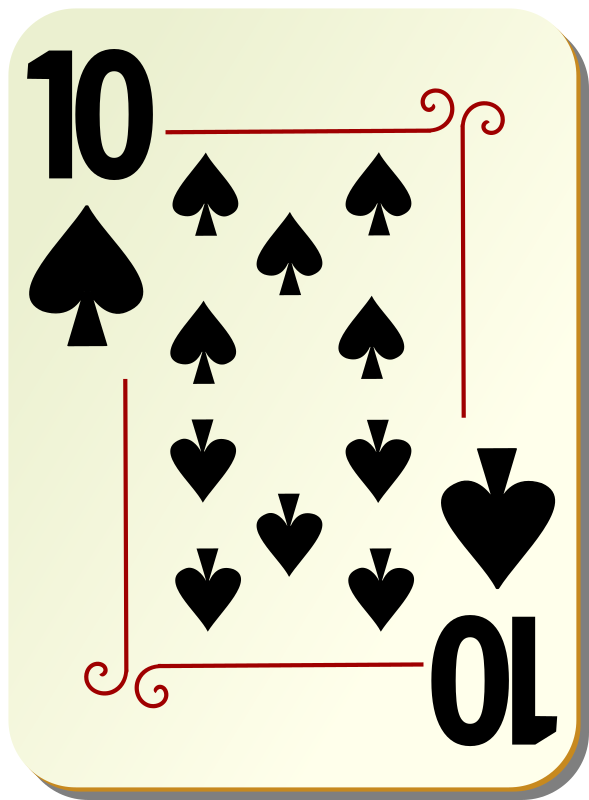 "Ornamental deck: 10 of spades by nicubunu - playing card from the ""Ornamental"" set"