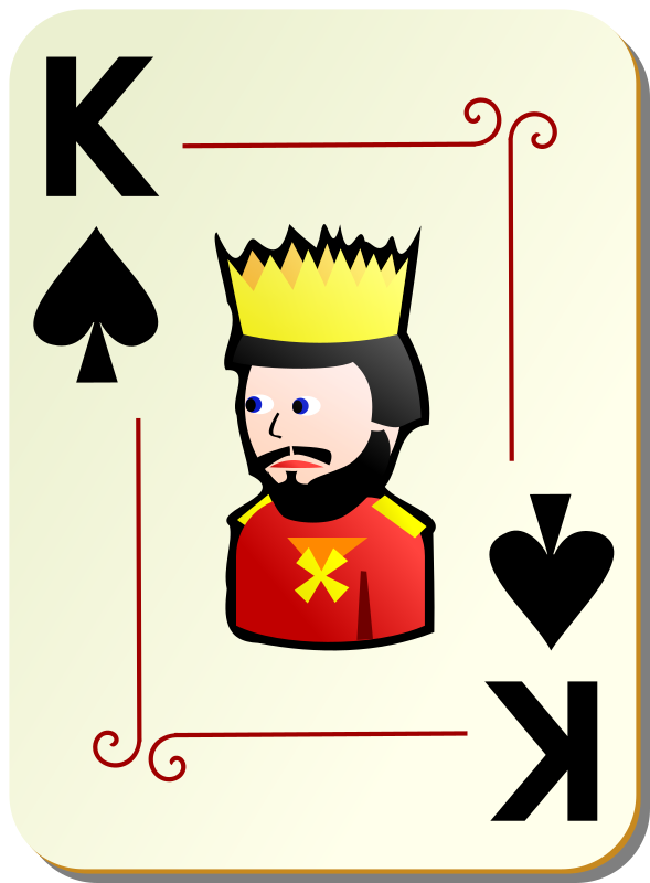 "Ornamental deck: King of spades by nicubunu - playing card from the ""Ornamental"" set"