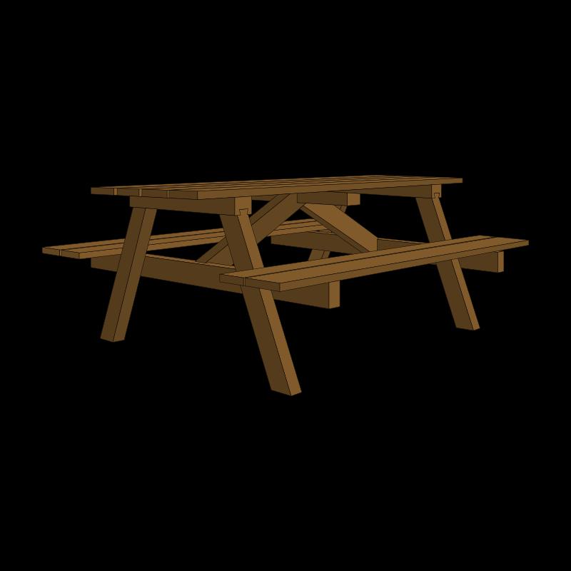 Picnic Table Clip Art Clipart - Garden Table