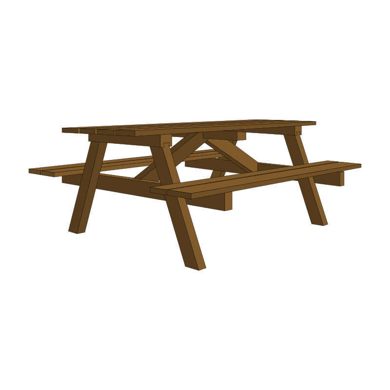 Clipart garden table for 10 person picnic table