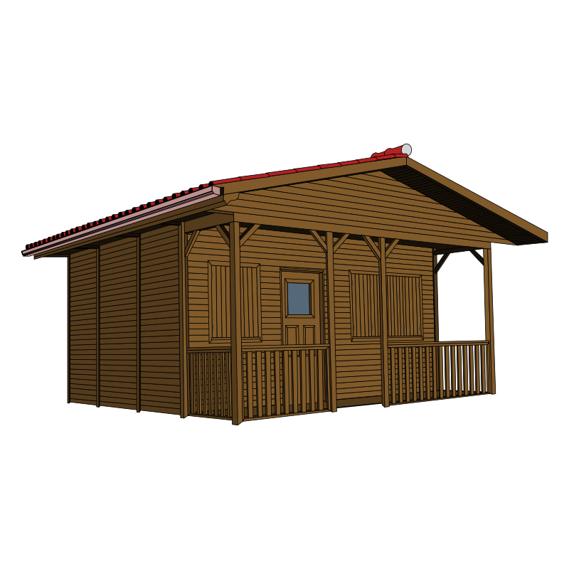 Clipart - Wooden House