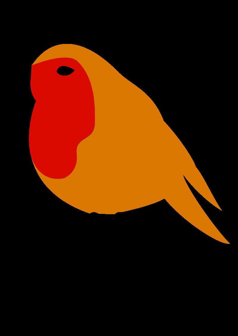 Clipart - Xmas Robin