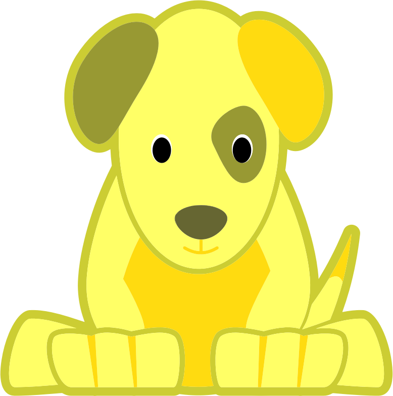 Clipart - Yellow Dog