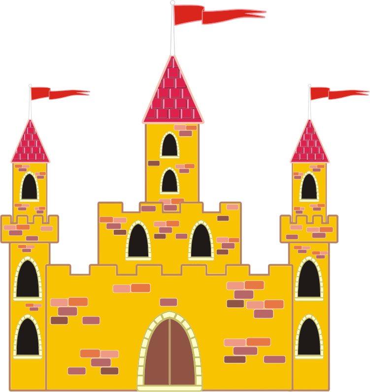 Clipart - Colorful Medieval Castle