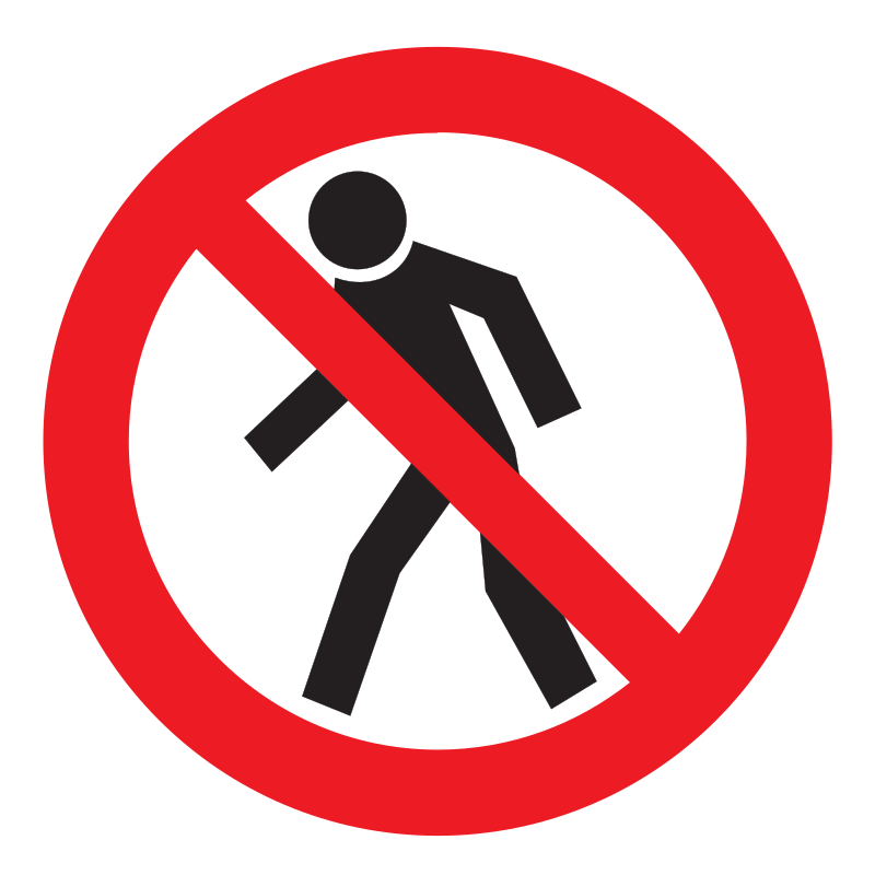 Clipart - No walking sign