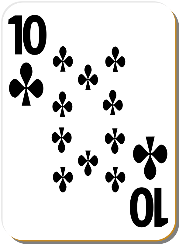 "White deck: 10 of clubs by nicubunu - playing card from the ""White"" set"