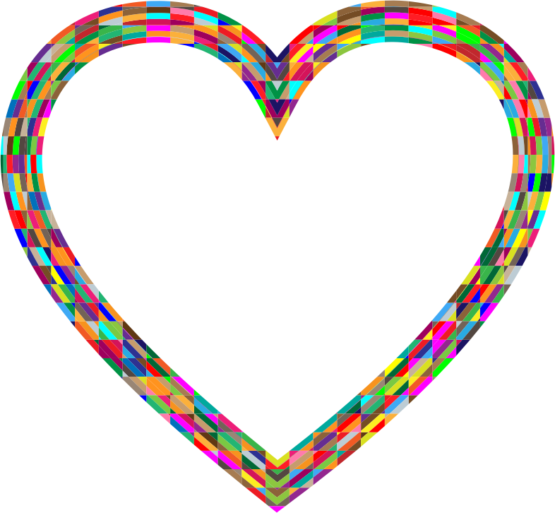Clipart - MultiFaceted Heart