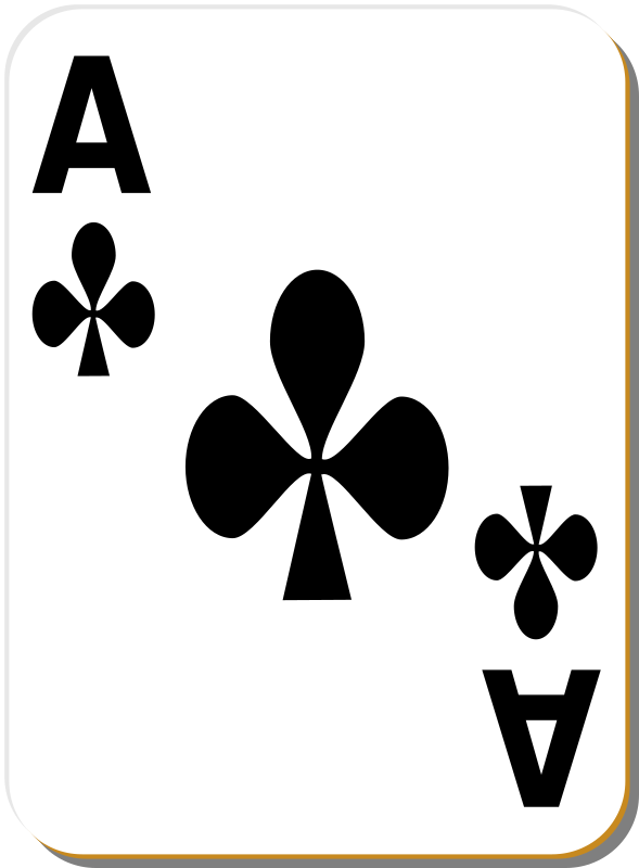 "White deck: Ace of clubs by nicubunu - playing card from the ""White"" set"