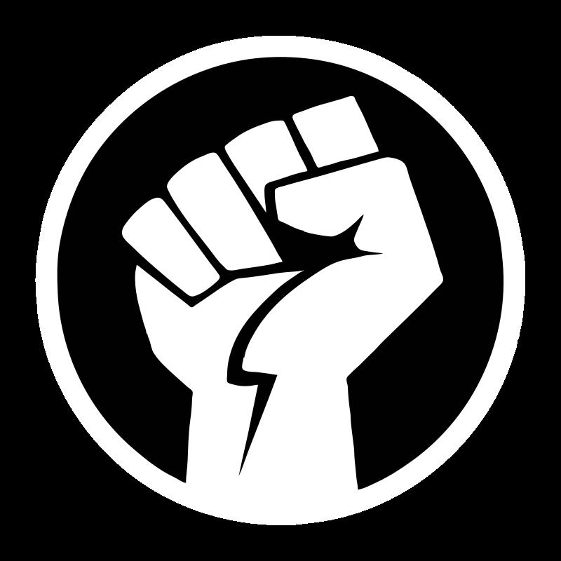 Black power fist image