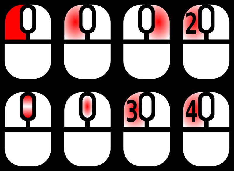 Clipart - Icons für Mausklicks