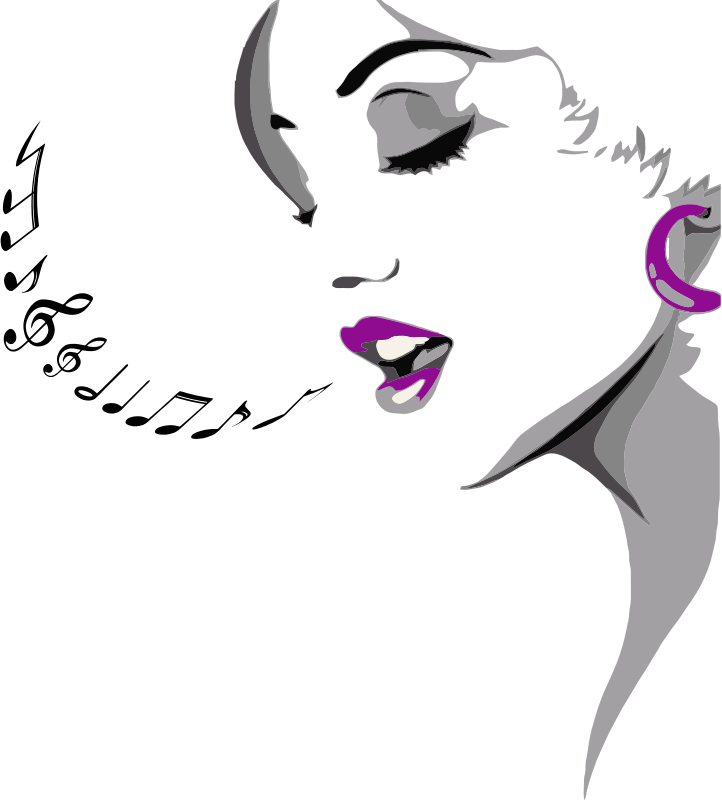 clipart singing woman music note clipart png music note clipart border