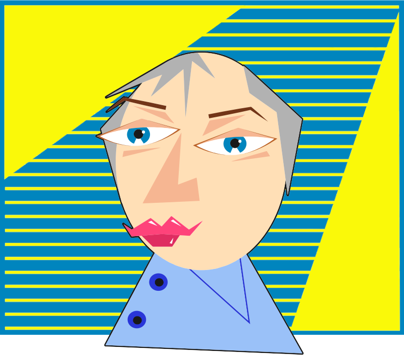 Clipart - Modern Art Male Portrait