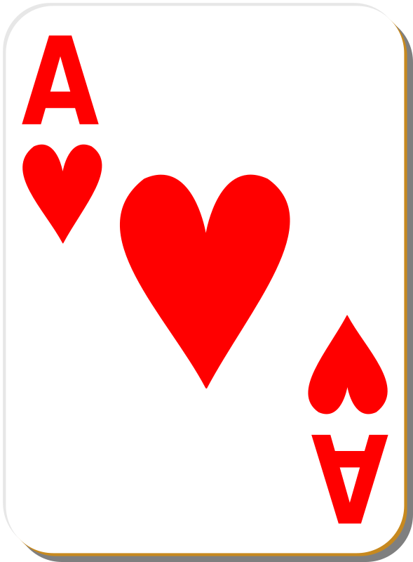 "White deck: Ace of hearts by nicubunu - playing card from the ""White"" set"