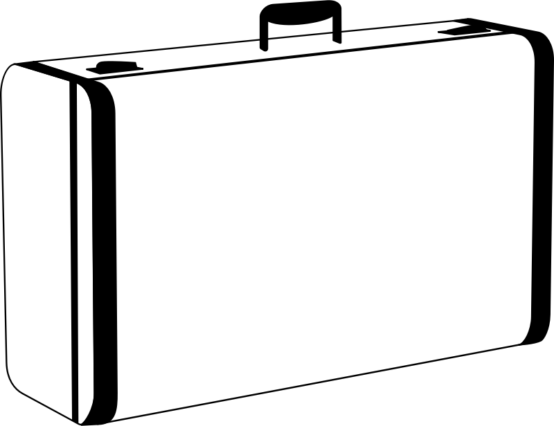 Clipart - White Suitcase