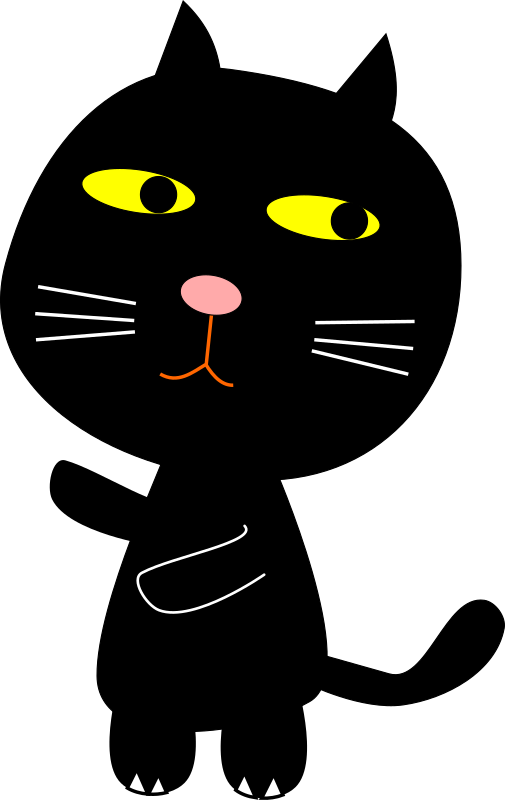 Clipart - Black Cat