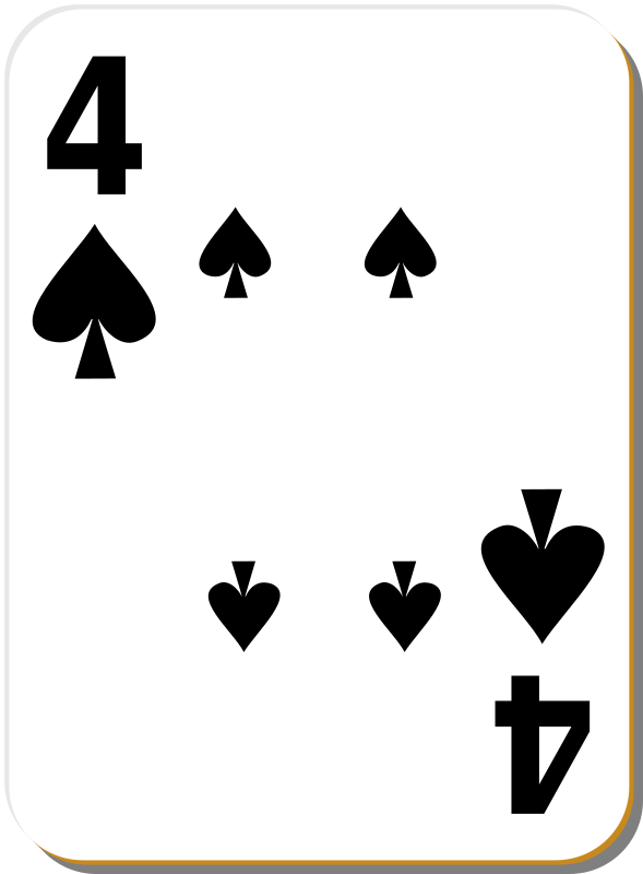 "White deck: 4 of spades by nicubunu - playing card from the ""White"" set"