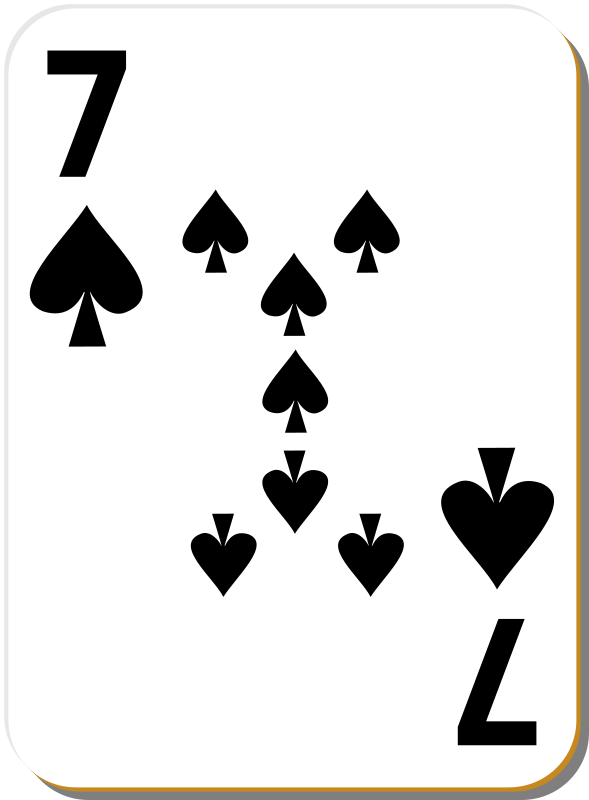 "White deck: 7 of spades by nicubunu - playing card from the ""White"" set"