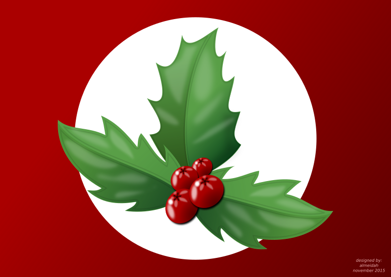 Clipart - Holly branch
